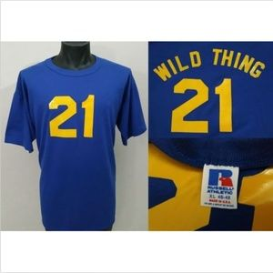 Vintage WILD THING Baseball Jersey T Shirt XL